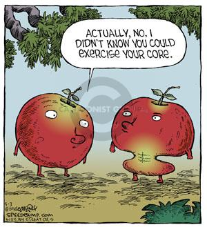 Comic Strip Dave Coverly  Speed Bump 2014-05-03 apple core
