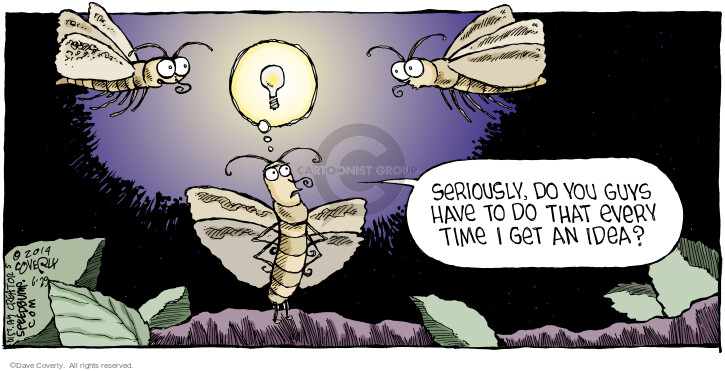 Cartoonist Dave Coverly  Speed Bump 2014-06-29 bulb