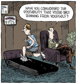Comic Strip Dave Coverly  Speed Bump 2014-06-30 jogging