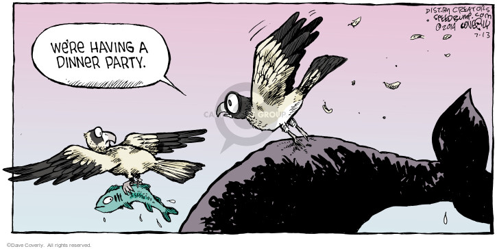 Cartoonist Dave Coverly  Speed Bump 2014-07-13 whale
