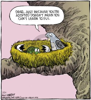 Comic Strip Dave Coverly  Speed Bump 2014-07-21 nest
