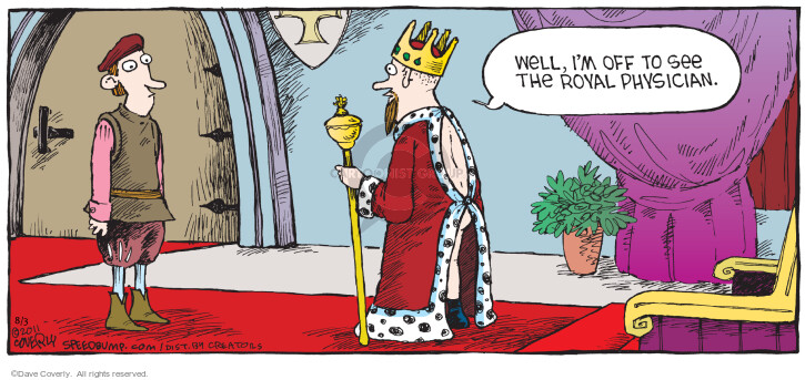 Cartoonist Dave Coverly  Speed Bump 2014-08-03 gown
