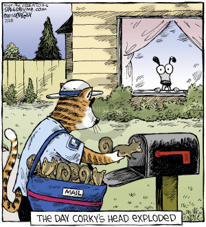 Comic Strip Dave Coverly  Speed Bump 2014-07-28 cat carrier