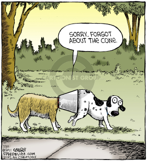 Sorry. Forgot about the cone. (This cartoon was originally published on 2011-05-11)
