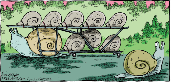 Comic Strip Dave Coverly  Speed Bump 2014-08-17 snail