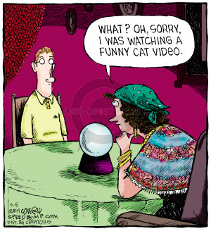 Comic Strip Dave Coverly  Speed Bump 2014-09-05 cat video