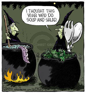 Cartoonist Dave Coverly  Speed Bump 2014-10-15 pair