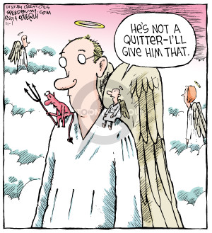 Comic Strip Dave Coverly  Speed Bump 2014-11-01 quit
