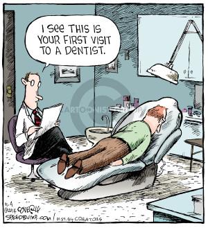 Resultado de imagem para dentist, comics