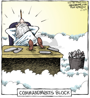 Commandments block.