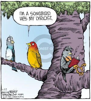 Cartoonist Dave Coverly  Speed Bump 2014-11-27 song