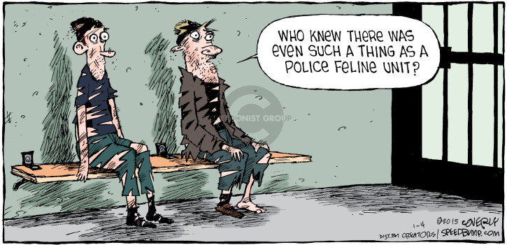 Cartoonist Dave Coverly  Speed Bump 2015-01-04 police