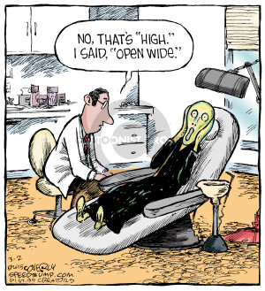 Cartoonist Dave Coverly  Speed Bump 2015-03-02 examination