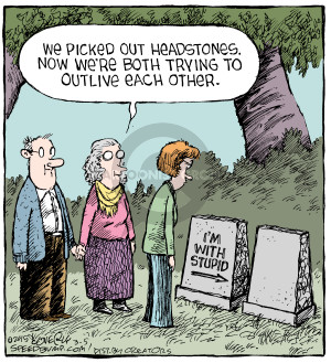 Comic Strip Dave Coverly  Speed Bump 2015-03-05 tombstone
