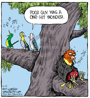 Cartoonist Dave Coverly  Speed Bump 2015-03-13 song