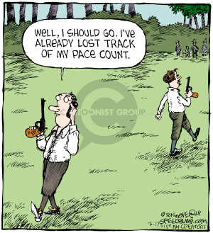 Comic Strip Dave Coverly  Speed Bump 2015-03-17 gunfight