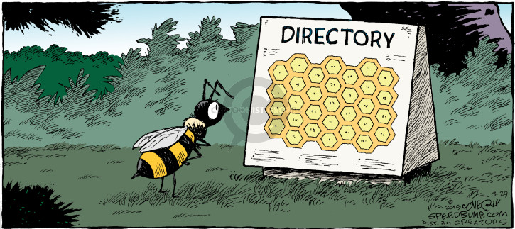 Comic Strip Dave Coverly  Speed Bump 2015-03-29 bee