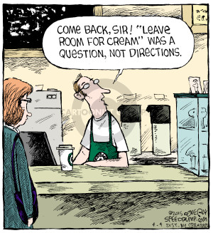 Comic Strip Dave Coverly  Speed Bump 2015-04-04 leave