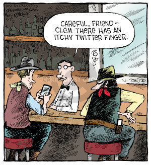 Comic Strip Dave Coverly  Speed Bump 2015-05-14 finger