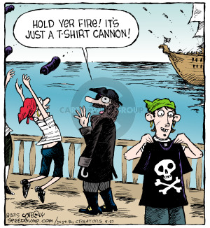 Comic Strip Dave Coverly  Speed Bump 2015-05-27 shooting