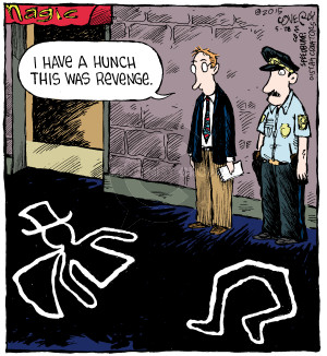 Comic Strip Dave Coverly  Speed Bump 2015-05-28 vengeance