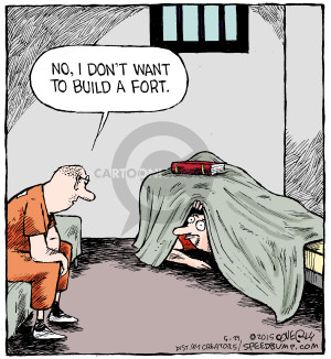 Cartoonist Dave Coverly  Speed Bump 2015-05-29 jail cell