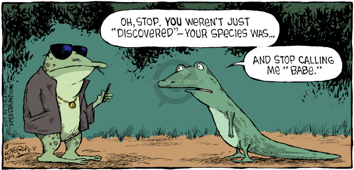 Comic Strip Dave Coverly  Speed Bump 2015-05-31 frog
