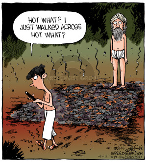 Cartoonist Dave Coverly  Speed Bump 2015-07-11 distract