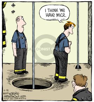 Cartoonist Dave Coverly  Speed Bump 2015-07-31 fire