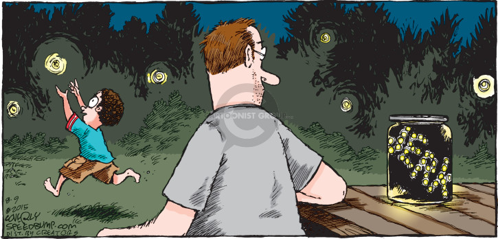 Cartoonist Dave Coverly  Speed Bump 2015-08-09 fire