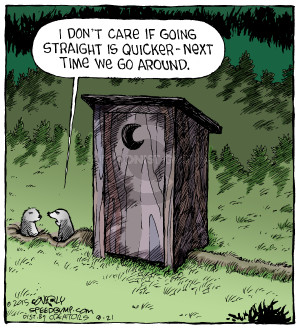 Comic Strip Dave Coverly  Speed Bump 2015-08-21 gopher