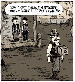 Cartoonist Dave Coverly  Speed Bump 2015-09-11 enforcement