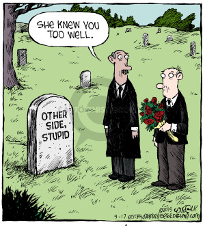 Comic Strip Dave Coverly  Speed Bump 2015-09-17 graveyard