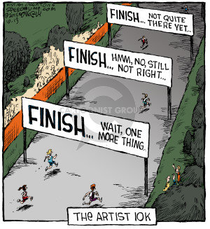 The Artist 10k. Finish … Wait, one more thing. Finish … Hmm, no, still not right … Finish … Not quite there yet …