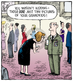 Cartoonist Dave Coverly  Speed Bump 2015-10-21 military uniform