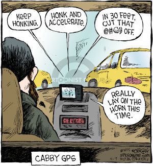 Comic Strip Dave Coverly  Speed Bump 2015-11-07 taxi