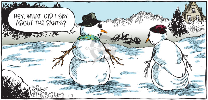 Cartoonist Dave Coverly  Speed Bump 2016-01-03 baggy