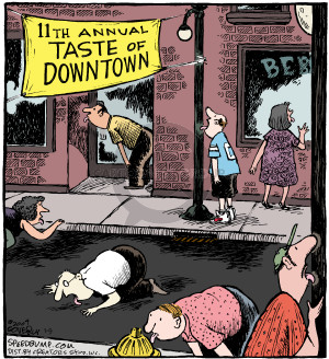 11th Annual Taste of Downtown. (This cartoon was originally published on 2004-09-18)
