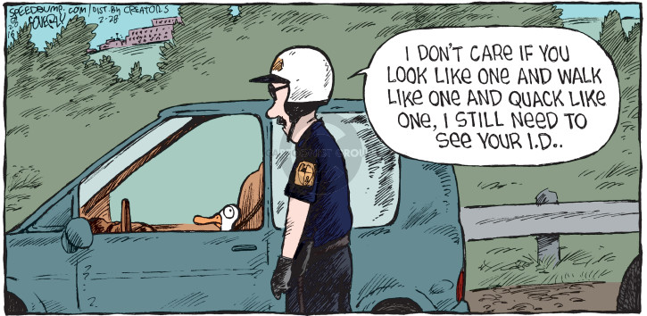 Cartoonist Dave Coverly  Speed Bump 2016-02-28 police