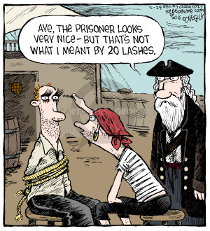 Aye, the prisoner looks very nice - but thats not what I meant by 20 lashes.