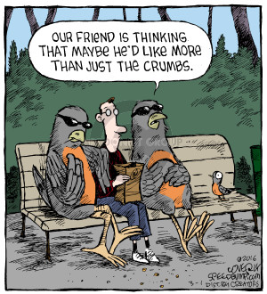 Comic Strip Dave Coverly  Speed Bump 2016-03-01 strong-arm