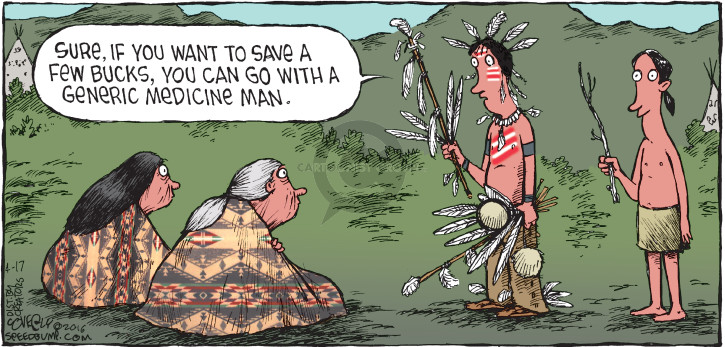 Comic Strip Dave Coverly  Speed Bump 2016-04-17 Native American