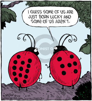 Comic Strip Dave Coverly  Speed Bump 2016-04-25 lucky