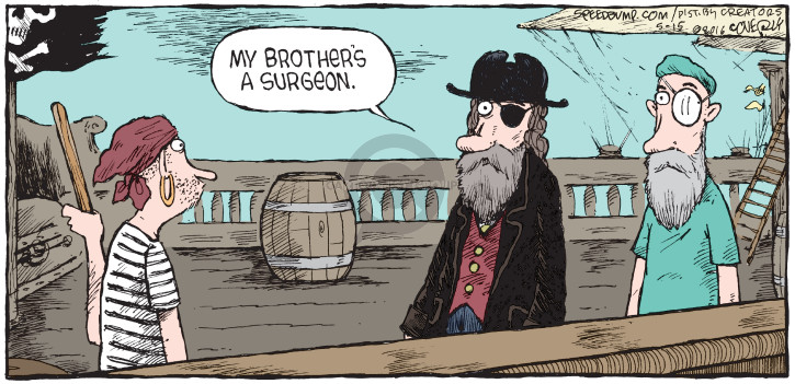 Cartoonist Dave Coverly  Speed Bump 2016-05-15 pirate