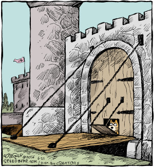 Comic Strip Dave Coverly  Speed Bump 2016-06-25 entrance