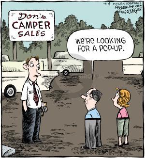 Comic Strip Dave Coverly  Speed Bump 2016-07-04 shopper