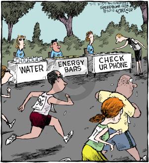 Comic Strip Dave Coverly  Speed Bump 2016-07-11 runner