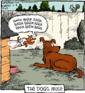 Cartoonist Dave Coverly  Speed Bump 2016-10-18 inspiration