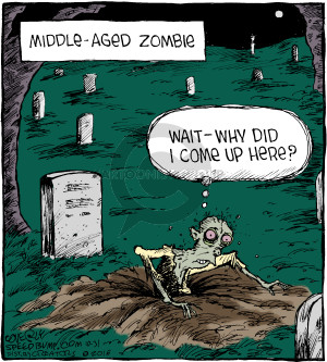 Comic Strip Dave Coverly  Speed Bump 2016-10-31 zombie