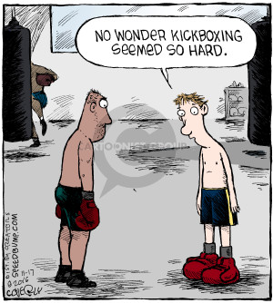 No wonder kickboxing seems so hard.